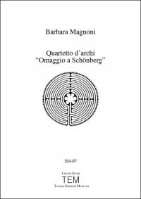 """Quartetto d'archi """"Omaggio a Schönberg"""""""